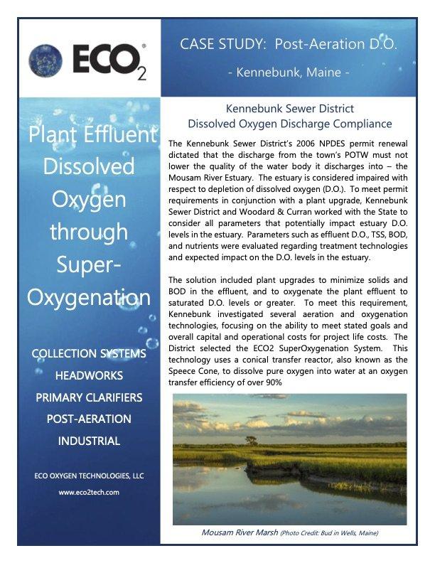 Kennebunk Sewer District Dissolved Oxygen Discharge Compliance